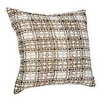 Metallic Gold Plaid Maxi Pillow