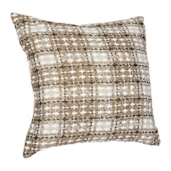 Metallic Gold Plaid Maxi Pillow