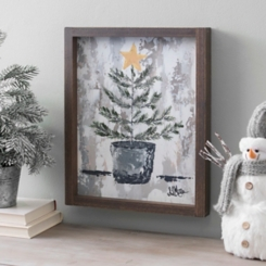 Pine Tree Farm Framed Canvas Art Print