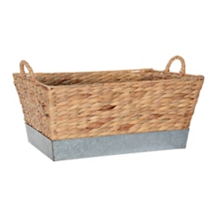 Woven and Galvanized Metal Basket