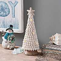 LED Coastal Shell Christmas Tree Statue