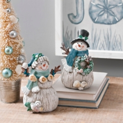 Coastal Snowmen, Set of 2