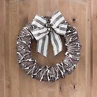 Snowy Bell Rattan Christmas Wreath