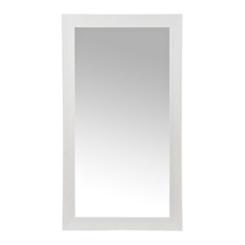 White Ridged Woodgrain Wall Mirror, 37.5x67.5