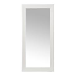 White Woodgrain Framed Wall Mirror, 31.5x65.5