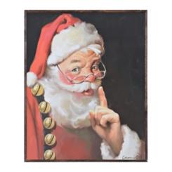 Shhh Santa Box Top Christmas Art