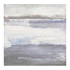 Navy Abstract Canvas Art Print