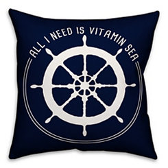 Nautical Vitamin Sea Outdoor Pillow