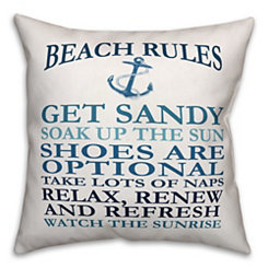 Nautical Beach Rules Outdoor Pillow