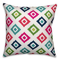 Multicolor Diamond Print Outdoor Pillow