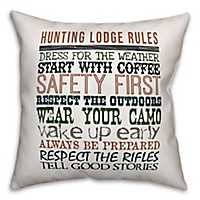Hunting Lodge Rules Outdoor Pillow