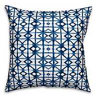 Blue Shibori Outdoor Pillow