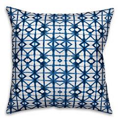 Blue Shibori Outdoor Pillow