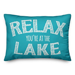 Relax You're At the Lake Outdoor Pillow