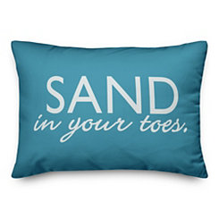 Sand in Your Toes Reversible Outdoor Pillow