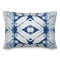 Blue Shibori Outdoor Accent Pillow