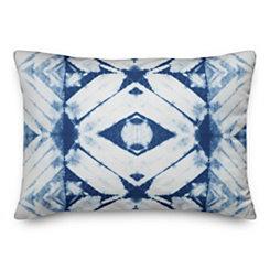 Blue Shibori Outdoor Accent Pillow