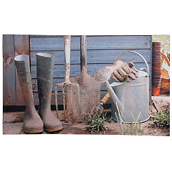 Garden Shed Recycled Rubber Doormat