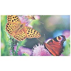 Butterflies Print Recycled Rubber Doormat