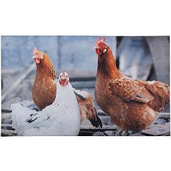 Chicken Print Recycled Rubber Doormat