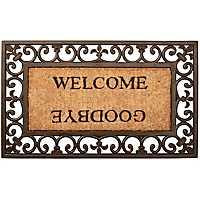 Welcome Goodbye Scroll Doormat