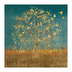 Bird Flock Tree Canvas Art Print