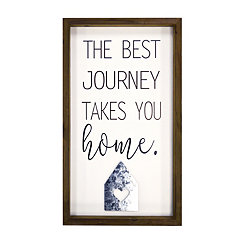The Best Journey Takes You Home Framed Wall Plaque
