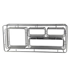 Iron 4-Divided Sections Wall Shelf