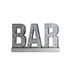 LED Galvanized Bar Sign