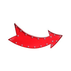 LED Curved Red Arrow Sign