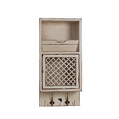 Wall Storage Cabinet with 2-Hooks
