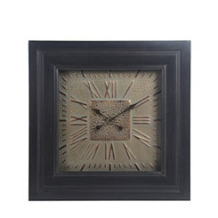 Black Wood Frame with Metal Face Wall Clock