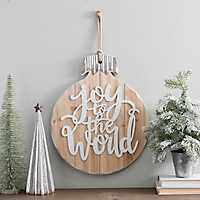 Joy to the World Wooden Plaque Ornament