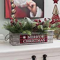 Merry Christmas Pine Arrangement
