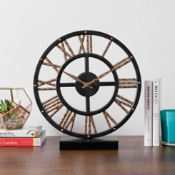 Addison Black and Gold Tabletop Clock