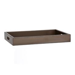Dark Brown Wood Rectangle Tray