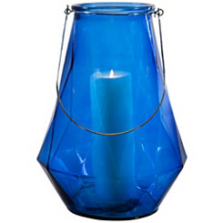 Optic Blue Geometric Lantern