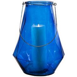 Optic Blue Geometric Lantern