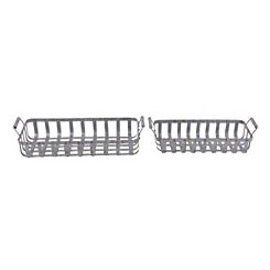 Iron Basket Weave Planters, Set of 2