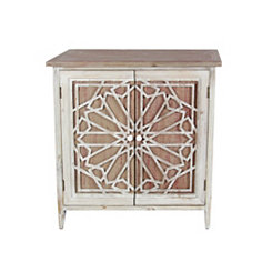 Elegant Carved 2-Door Cabinet
