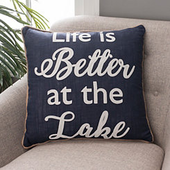 Navy Life Is Better At The Lake Pillow