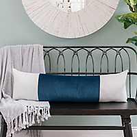 Navy Velvet Vertical Stripe Accent Pillow