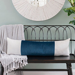 Navy Velvet Vertical Stripe Accent Pillow