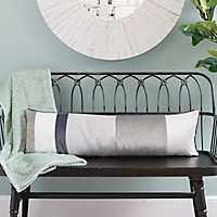 Gray Velvet Harold Accent Pillow
