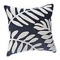 Navy Fern Shadow Pillow