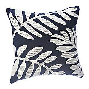 Navy Fern Shadow Pillow
