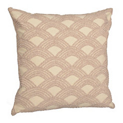 Natural Embroidered Arch Pillow