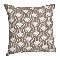 Gray Embroidered Arch Pillow