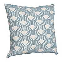 Ocean Embroidered Arch Pillow
