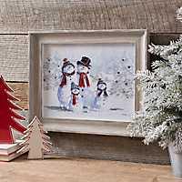 Snowman Family Framed Art Print